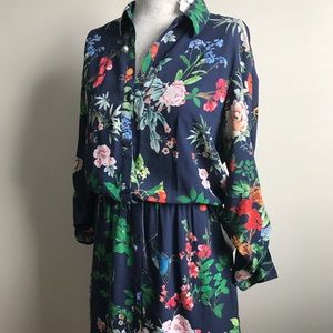 Express Floral knee length dress
